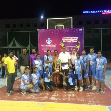 Women Basket Ball Team won Kumarasamy Trophy'19.