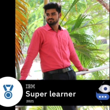 Mr. D.Praveen Kumar, CSE2020 Batch recognized as Super Learner 2021 by IBM